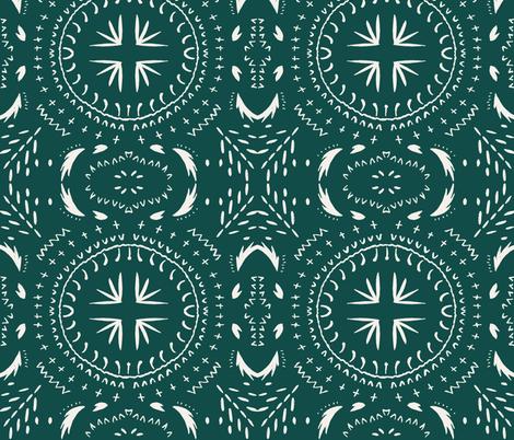 MANDALA_TILE_MARINE_DARK fabric by holli_zollinger on Spoonflower - custom fabric