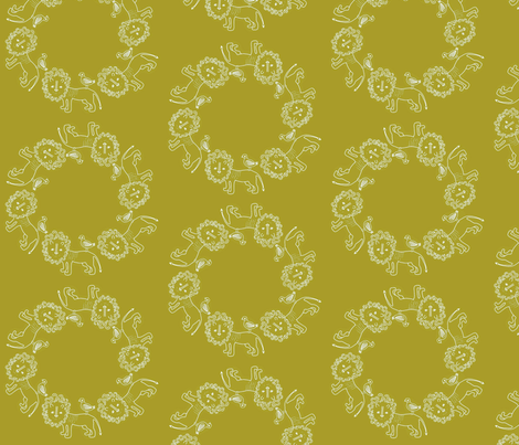 Lion rings fabric by linnyconley on Spoonflower - custom fabric