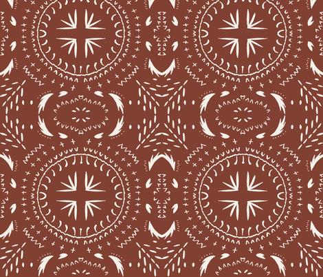 MANDALA_TILE_MARSALA_DARK fabric by holli_zollinger on Spoonflower - custom fabric