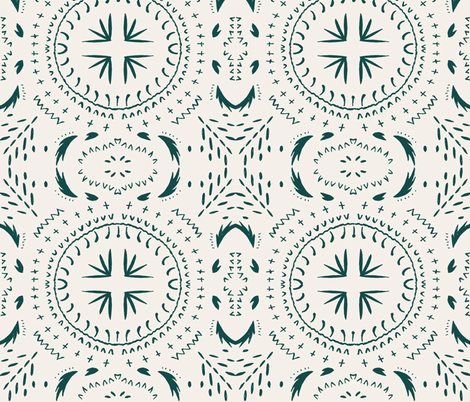 MANDALA_MARINE_LIGHT fabric by holli_zollinger on Spoonflower - custom fabric