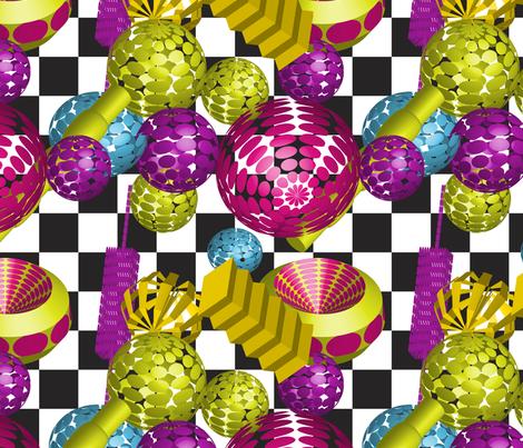 Memphis Modern fabric by vivaeris_designs on Spoonflower - custom fabric