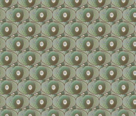 Celadon Ornamental Mitosis fabric by bloomingwyldeiris on Spoonflower - custom fabric