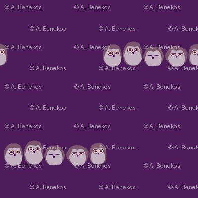 Owlet Puff - Purple