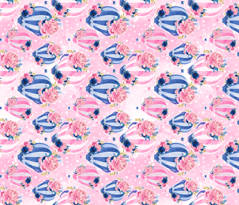 Pink with Stars (90) fabric by mcaussieboutique on Spoonflower - custom fabric