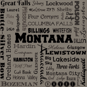 Montana cities, gray