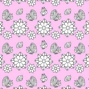 Bugs & Butterflies on Pink
