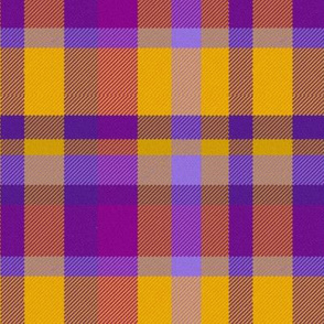 Purple and Gold Madras Straight Set