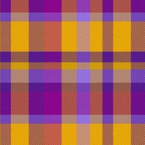 Purple and Gold Madras Straight Set