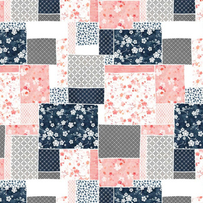 Cherry blossom patchwork long