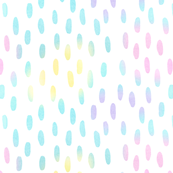 Watercolor Dots with Rainbow Colors