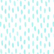 Watercolor Dots with Mint and White