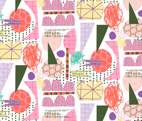 Mayhem Pink fabric by zoe_ingram on Spoonflower - custom fabric