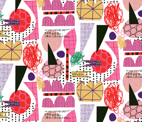 Mayhem Red fabric by zoe_ingram on Spoonflower - custom fabric