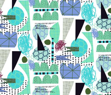 Mayhem Blue fabric by zoe_ingram on Spoonflower - custom fabric