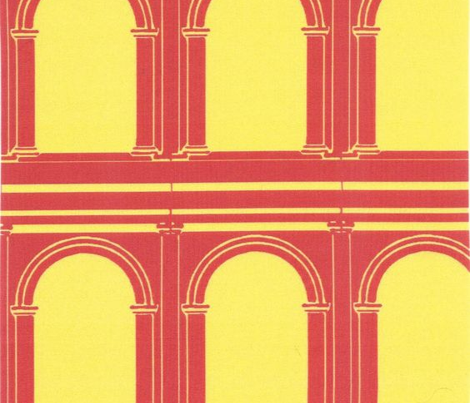 Roman Arches Red and Yellow