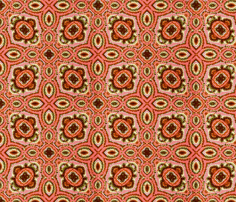 Fractal Tribal Cross-Stitch 5 fabric by anneostroff on Spoonflower - custom fabric