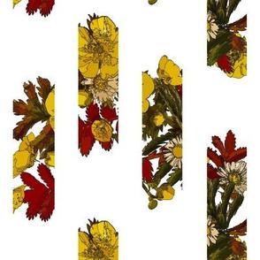 leaf bouquet scattered