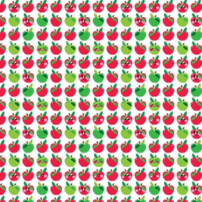 aloha apple small red and green kawaii