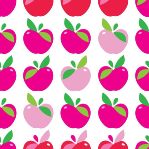 aloha apple large red and pink