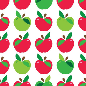aloha apple large red and green