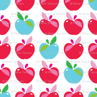 aloha apple large blue and red