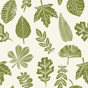 Leaves botanical nature walk autumn fall spring summer pattern green