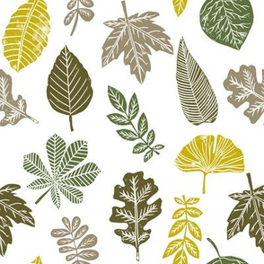 Leaves botanical nature walk autumn fall spring summer pattern multi light