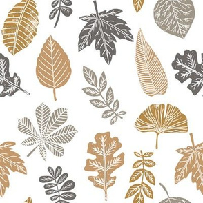 Leaves botanical nature walk autumn fall spring summer pattern multi earth