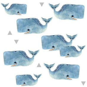 Larger Whale Pod and Triangles