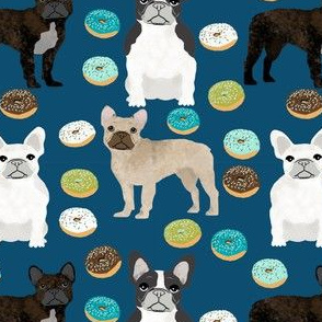 frenchies donuts fabric cute french bulldogs fabrics for boy dogs
