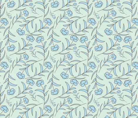 meadow mint little buds fabric by margiecampbellsamuels on Spoonflower - custom fabric