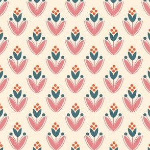 floral - cream rose