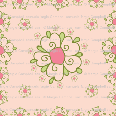 meadow pink flower tiles