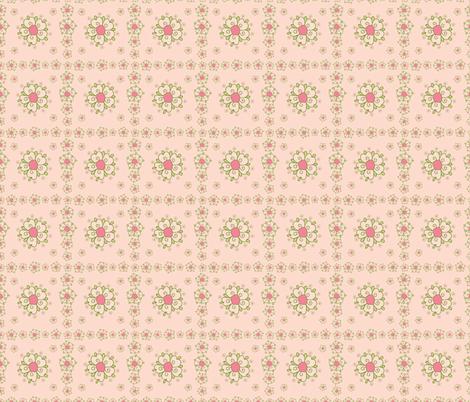 meadow pink flower tiles fabric by margiecampbellsamuels on Spoonflower - custom fabric