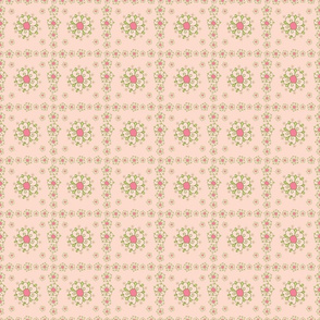 meadow pink flower tiles