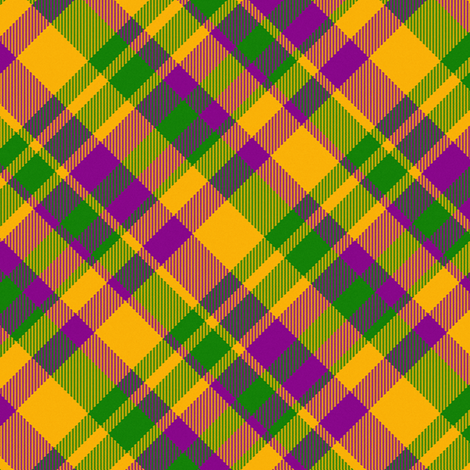 Mardi Gras Madras 45 degree angled fabric by eclectic_house on Spoonflower - custom fabric