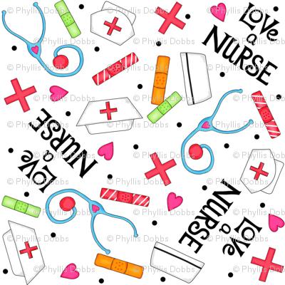 Love a Nurse Whimsy White