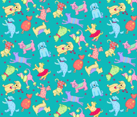 Rparty_pups_dog_teal_green_shop_preview