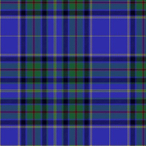 Whitworth blue tartan, 6""