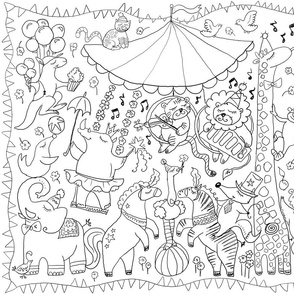 ABC-circus color-in