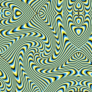 Blue and Yellow Optical Swirl