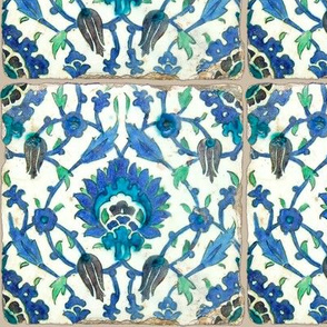 6 inch Antique Blue Tile