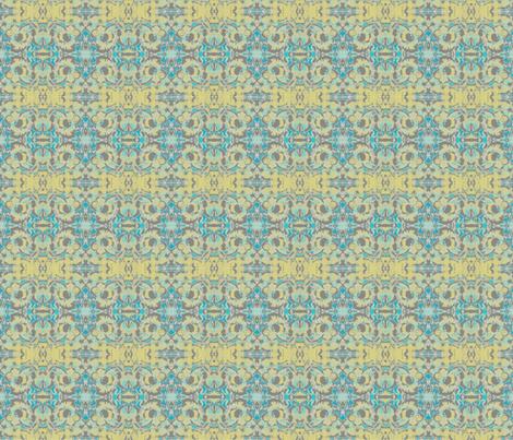 Yellow and Aqua Maze fabric by twigsandblossoms on Spoonflower - custom fabric