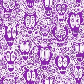 Calevera Sugar Skulls  - Purple Lace