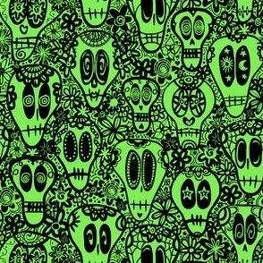 Sugar Skulls - Green