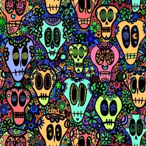 Small Scale Sugar Skulls - Saturated Color