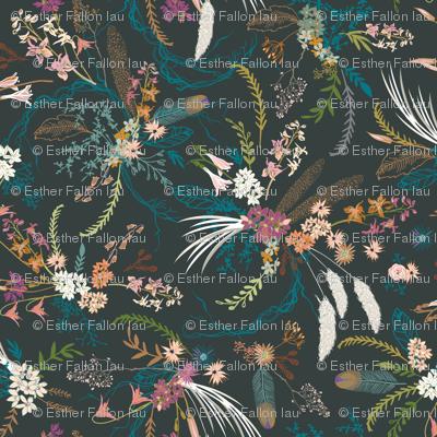 Sheba floral (dark)