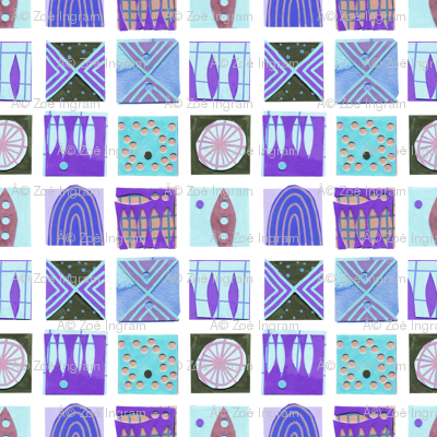 9 Squares Blue