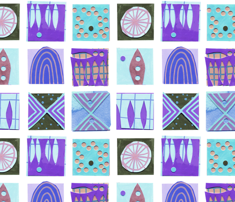 9 Squares Blue fabric by zoe_ingram on Spoonflower - custom fabric