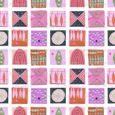 9 Squares Pink